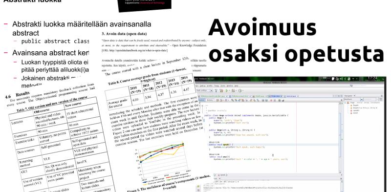 Avoimuus ohjelmointiopetuksessa: tieteellistä kontribuutiota
