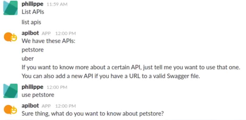 API chatbot -kokeilun raportti